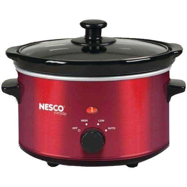NESCO SC-150R 1.5-Quart Oval Slow Cooker (Metallic Red)