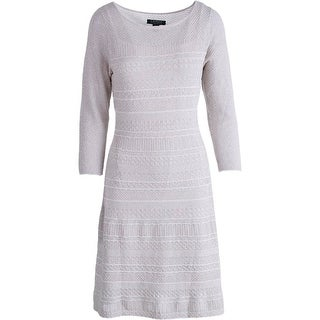 Lauren Ralph Lauren Womens Knit Metallic Sweaterdress