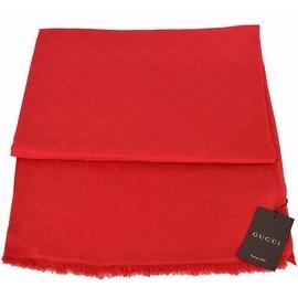 New Gucci Women's 307245 Red Modal Cotton GG Guccissima Scarf Wrap 55 x 55
