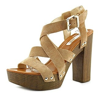 INC International Concepts Womens Camira Leather Open Toe Ankle Strap Platfor... (More options available)