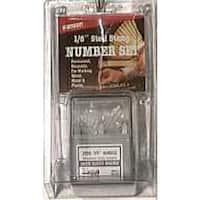 """CH Hanson 20683 Stamp Number Set,Steel, 1/8"""""""