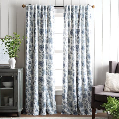 Martha Stewart Jakarta Back Tab Curtain Panel Pair