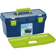 "19""X10""X8.9"" Blue & Green - Pro Art Storage Box W/Organizer Top"