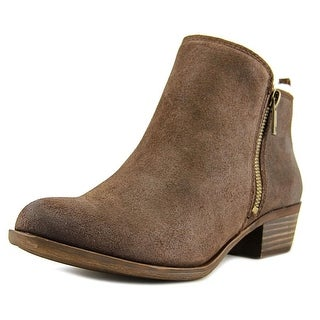 Lucky Brand Basel 4 Women Round Toe Synthetic Brown Bootie