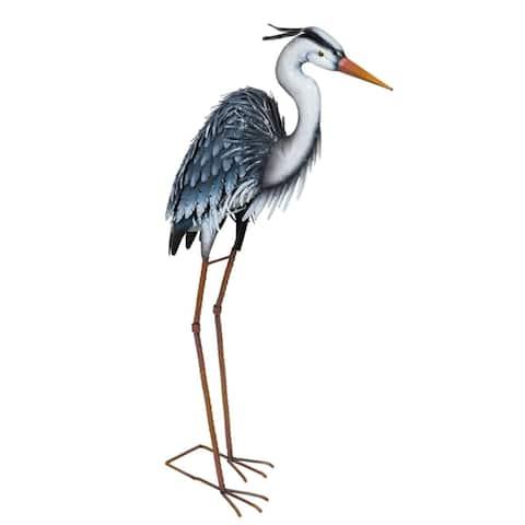 Metal Grey Heron