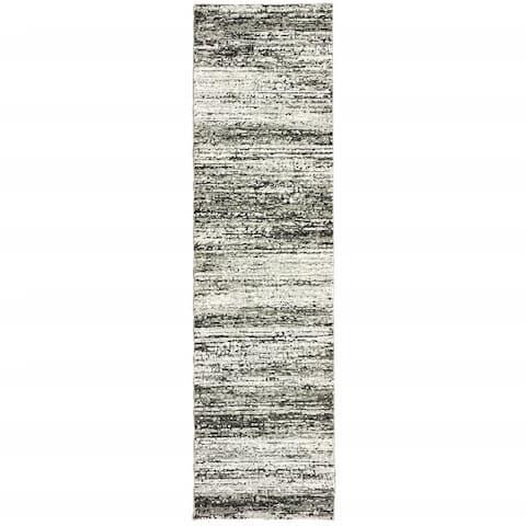 Ash and Slate Abstract Rug