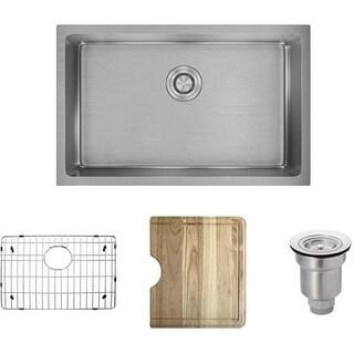 """Rene by Elkay R1-1035S Rene 28-1/8"""" Single Basin Stainless Steel Kitchen Sink -"""