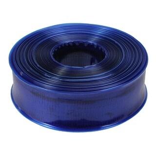 """Transparent Blue Swimming Pool Filter Backwash Hose - 100' x 1.5"""""""