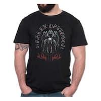 Harley-Davidson Men's Grim Rider Premium Short Sleeve T-Shirt, Black Marble