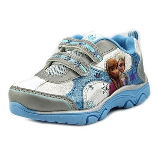 Disney Frozen Princess Sneakers Youth  Round Toe Synthetic White Sneakers
