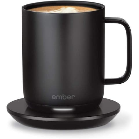 Temperature Control Travel Coffee Smart Mug 2 10 oz Black
