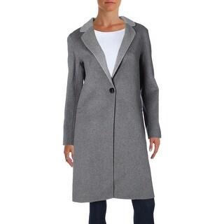 Nanette Lepore Womens Double Face Coat Wool Notched Lapel