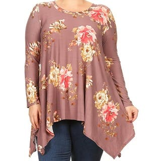 Women Plus Size Long Sleeve Floral Pattern Casual Tunic Top Shirt Mauve Gold D396 FLO|https://ak1.ostkcdn.com/images/products/is/images/direct/9f2844b47905c21bd3aa6c394e4afa5ec9786d22/Women-Plus-Size-Long-Sleeve-Floral-Pattern-Casual-Tunic-Top-Shirt-Mauve-Gold-D396-FLO.jpg?impolicy=medium