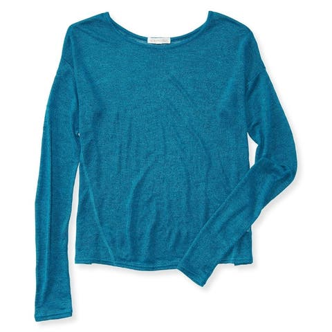 Aeropostale Womens Sheer Knit Pullover Sweater