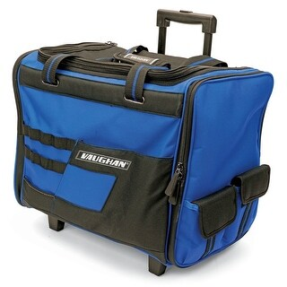 Vaughan 18-Inch Wide Mouth Rolling Tool Bag, Telescoping Handle Wheeled - 050024