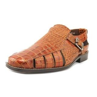 Stacy Adams Sabella Men Open Toe Leather Tan Gladiator Sandal