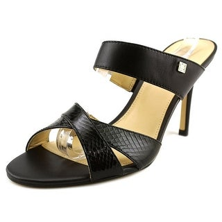 Ivanka Trump Jimmy Open Toe Leather Slides Sandal