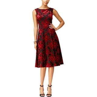 Betsey Johnson Womens Party Dress A-Line Velvet