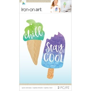 Momenta Iron On Applique-Chill, Stay Cool 2Pcs