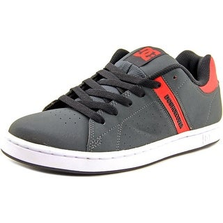 DC Shoes Wage Men Round Toe Leather Gray Skate Shoe