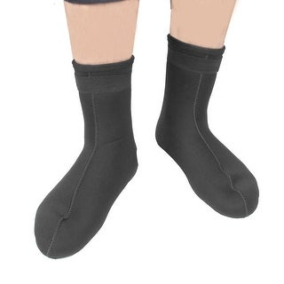 Unique Bargains Black Neoprene Snorkeling Scuba Dive Diving Socks Boots Booties Pair
