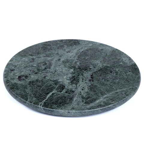 Creative Home Green Marble Round Trivet, Cheese Board