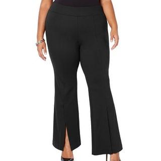 Link to INC Women's Pants Black Size 20W Plus Split Hem Pull On Flare Stretch Similar Items in Pants