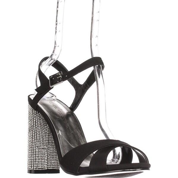 Caparros Hayley Ankle Strap Dress Sandals, Black - 9.5 us