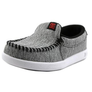 DC Shoes Villian Youth Moc Toe Canvas Gray Loafer