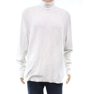 Alfani Whispy Gray Heather Mens Size 3XL Turtleneck Sweater