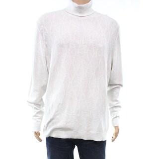 Alfani Whispy Gray Mens Size Medium M Textured Turtleneck Sweater