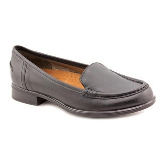 Hush Puppies Blondelle Women Round Toe Leather Black Loafer