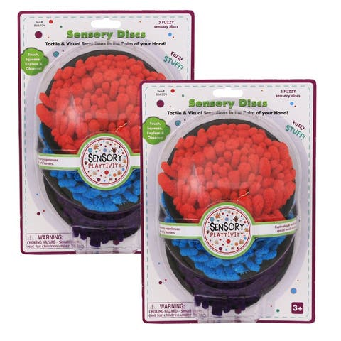 Essential learning products (2 pk) fuzzy stuff sensory discs 866304bn