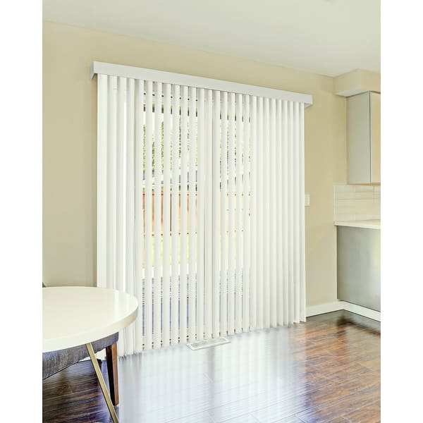 Cordless Vertical Blinds Oxford Alabaster 78 W X 84 H On Sale Overstock 31437608