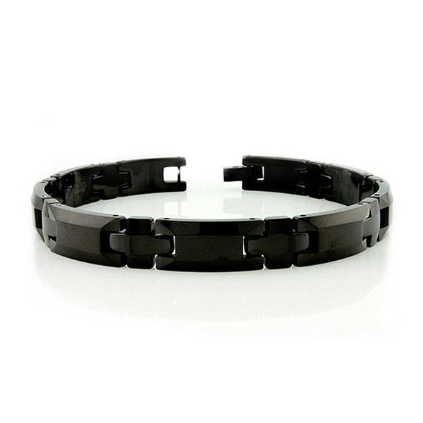 Black Tungsten Carbide Bracelet - 8.5 inches