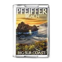 Pfeiffer Beach, California - Lantern Press Artwork (Acrylic Serving Tray)