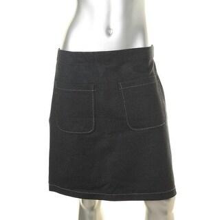 Studio M Womens A-Line Skirt Ponte Knee-Length