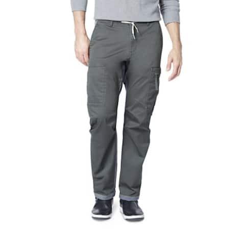 Dockers Men's Straight-Fit Stretch Urban Twill Cargo Pants Gray Size 36x29