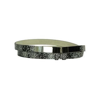 Nine West Women's Faux Snake Skin Leather Belt