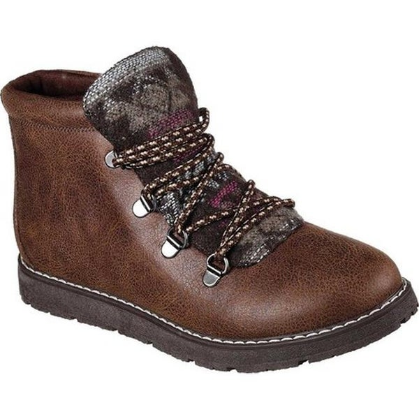 c409517ae1e Shop Skechers Women's BOBS Alpine Keep Trekking Ankle Boot Chocolate ...