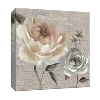 "PTM Images 9-146739  PTM Canvas Collection 12"" x 12"" - ""Blush in Bloom I"" Giclee Flowers Art Print on Canvas"