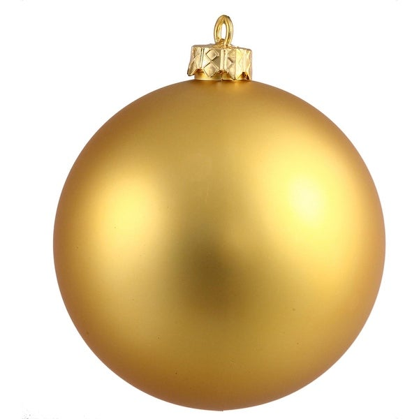 "Matte Gold UV Resistant Commercial Drilled Shatterproof Christmas Ball Ornament 15.75""(400mm)"