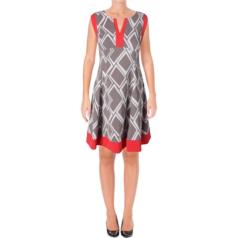 Signature By Robbie Bee Womens Petites Casual Dress Printed Sleeveless
