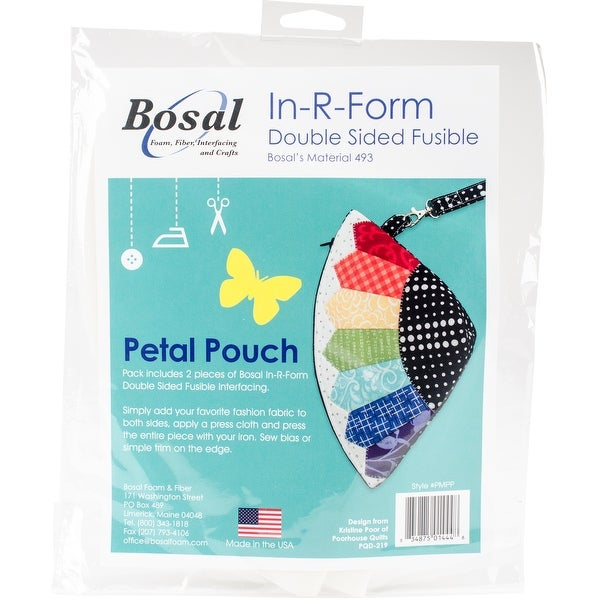 Bosal In-R-Form Double-Sided Fusible Interfacing-Petal Pouch 2/Pkg