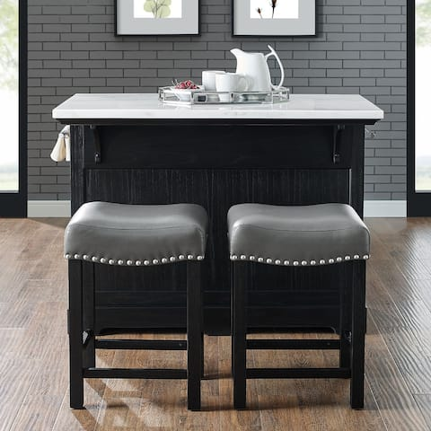 Porch & Den Ariana Kitchen Island 3-Piece Set