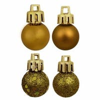 18 ct. Olive Green 4-Finish Shatterproof Christmas Ball Ornaments -