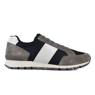 Prada Men's Multicolor Suede Lace Up Running Round Toe Sneakers