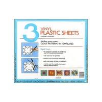 "Collins Template Plastic Sheet 12x12"" 3pc"