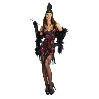Sexy Dames Like Us Sequin Flapper Costume Dress Adult Large,Medium,Small,X-Large