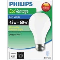 Philips Lighting Co 4Pk 43W Sw A19 Hal Bulb 426031 Unit: EACH